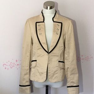 White House Black Market Beige Lightweight Blazer